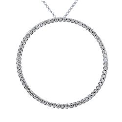 Natural 0.65 CTW Diamond Necklace 14K White Gold - REF-63M2F