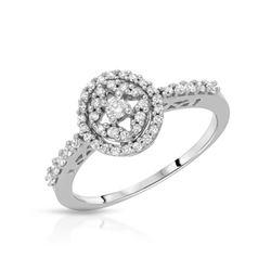 Natural 0.33 CTW Diamond Ring W=9MM 14K Gold - REF-46X8T