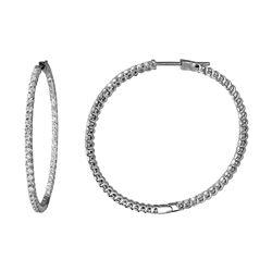 Natural 2.09 CTW Diamond Earrings 14K White Gold - REF-171H9W