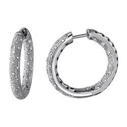 Natural 0.67 CTW Diamond Earrings 14K White Gold - REF-127W8H