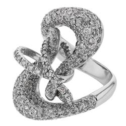 Natural 2.22 CTW Diamond Ring 14K White Gold - REF-198T9X