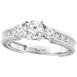 1.29 CTW Diamond Ring 14K White Gold - REF-271H6M