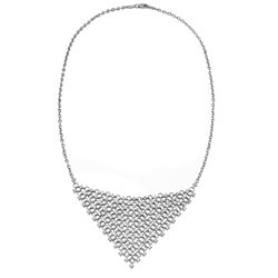 Natural 2.08 CTW Diamond Necklace 18K White Gold - REF-374W4H