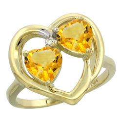 2.60 CTW Citrine Ring 10K Yellow Gold - REF-23F7N