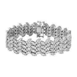 Natural 5.2 CTW Diamond & Bracelet 18K White Gold - REF-767T7X