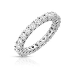 Natural 2.01 CTW Diamond Band Ring 14K White Gold - REF-258K3R