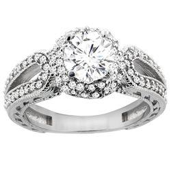 1.24 CTW Diamond Ring 14K White Gold - REF-238A7X