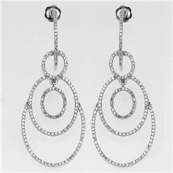 Natural 1.06 CTW Diamond Earrings 14K White Gold - REF-98K3R