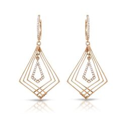 Natural 0.29 CTW Diamond Earrings 14K Rose Gold - REF-67K5R