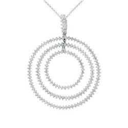 Natural 1.19 CTW Diamond Necklace 14K White Gold - REF-96N3Y