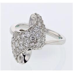 Natural 1.16 CTW Diamond Ring 18K White Gold - REF-171T9X