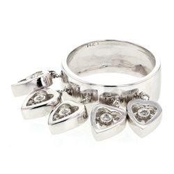 Natural 0.11 CTW Diamond Ring 14K White Gold - REF-72N2Y