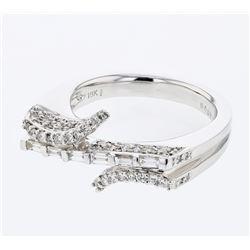 Natural 0.79 CTW Diamond Ring 18K White Gold - REF-174W6H