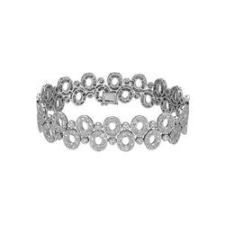 Natural 4.78 CTW Diamond & Bracelet 14K White Gold - REF-434T7X