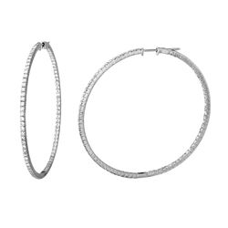 Natural 3.32 CTW Diamond Earrings 14K White Gold - REF-261T9X