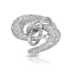 Natural 2.05 CTW Diamond Ring 18K White Gold - REF-318T6X
