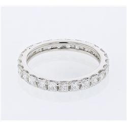 Natural 1.62 CTW Princess Diamond Band Ring W=3MM 14K Gold - REF-269W3H