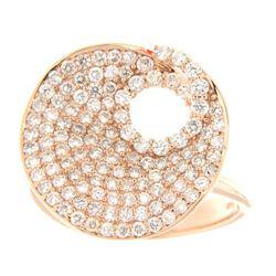 Natural 1.24 CTW Diamond Ring 18K Rose Gold - REF-185K4R