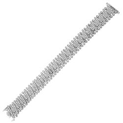 Natural 3.57 CTW Diamond Bracelet 14K White Gold - REF-469W8H