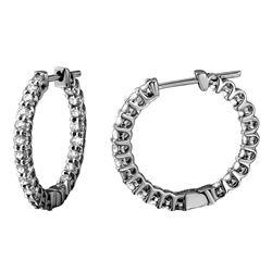 Natural 1.14 CTW Diamond Earrings 14K White Gold - REF-90N9Y