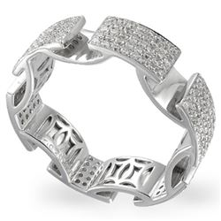Natural 1.09 CTW Diamond Ring W=6MM 14K Gold - REF-154N8Y