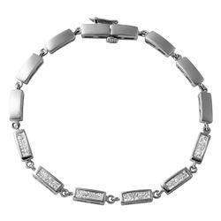 Natural 1.85 CTW Diamond & Princess Diamond Bracelet 14K White Gold - REF-158K4R