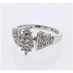 Natural 0.50 CTW Diamond Ring W=12MM 14K Gold - REF-56F7M