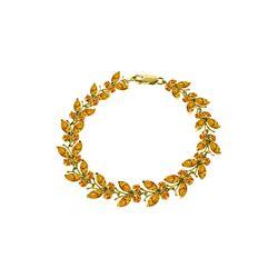 Genuine 16.5 ctw Citrine Bracelet 14KT Yellow Gold - REF-179K2V