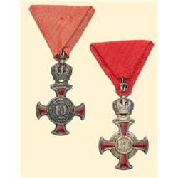 Medal - AUSTRIA - MONARCHY - SILVER CROSS OF MERIT WITH CROWN