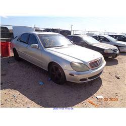 2002 - MERCEDES BENZ S500