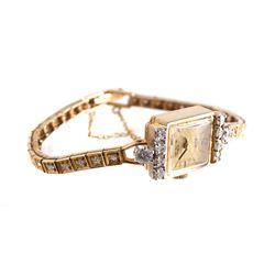 14k Gold & Diamonds Bracelet Watch