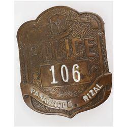Rare Antique PHILIPPINES Police Badge