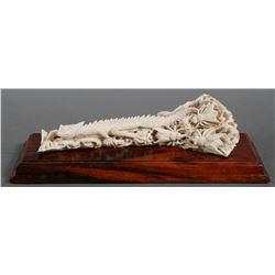 Carved Bone BEARDED DRAGON Sculpture