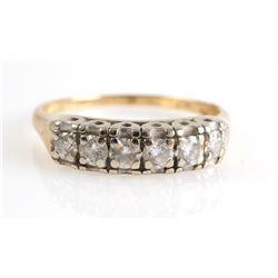 14K GOLD & DIAMOND Band Ring