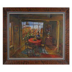 RALPH SEGAL, 1953 New York Apartment Interior, O/C