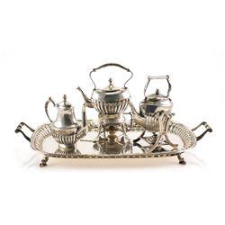 WILLIAM B MEYERS Sterling Miniature TEA SET