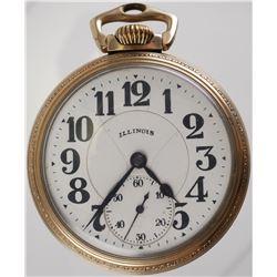 ILLINOIS BUNN SPECIAL Open Face Pocket Watch