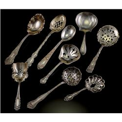(9) Sterling Confection Jam Bon Bon Serving Spoons