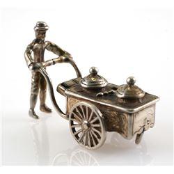 Dutch 835 Silver Miniature Ice Cream Vendor
