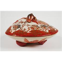 KUTANI TSUKURU Meiji Era Shell Box