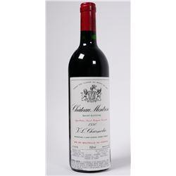 WINE: 1990 Chateau Montrose Bordeaux bottle