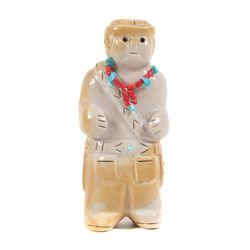 ZUNI Freddie Leekya Stone Carving Pueblo Man