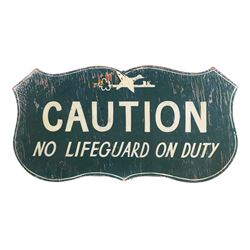 Vintage DUCK KEY Florida Lifeguard Wood Sign