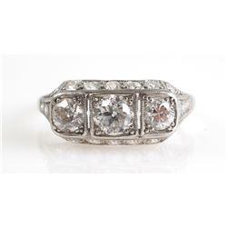 PLATINUM & Diamond Estate Ring, 1.42 CTW