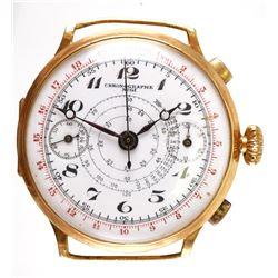 18K Gold Chronographe Telemetre Wrist Watch