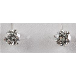 TWO CARAT Diamond Solitaire Earrings