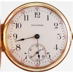 WALTHAM 14K Hunter Case Pocket Watch