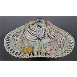 BELLEEK Masterpiece Collection Handled Basket