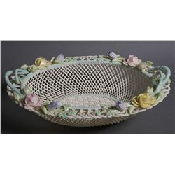BELLEEK Masterpiece Collection Oval Basket