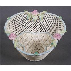 BELLEEK Masterpiece Collection Trefoil Basket